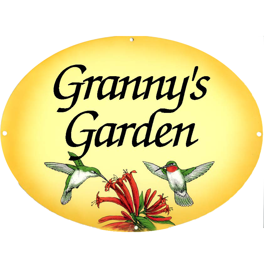 Phrases-Welcome To My Garden – Hummingbirds On Yellow