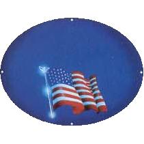 Phrases – God Bless America – Flag On Blue