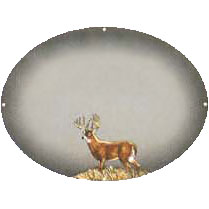 stag on silver gift plaque