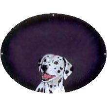 Dalmation On Charcoal Plaque