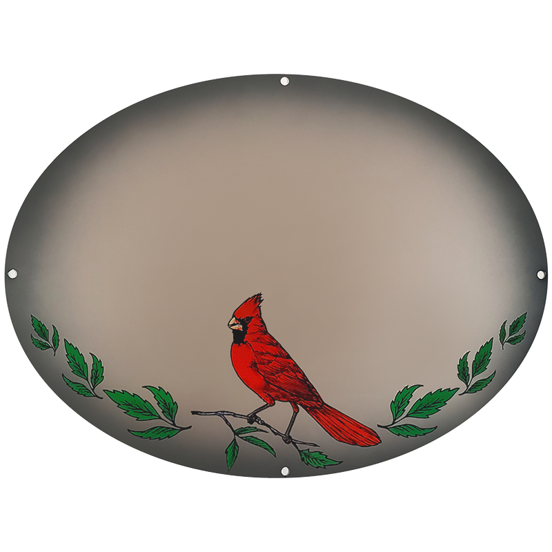 Cardinal On Silver Metallic