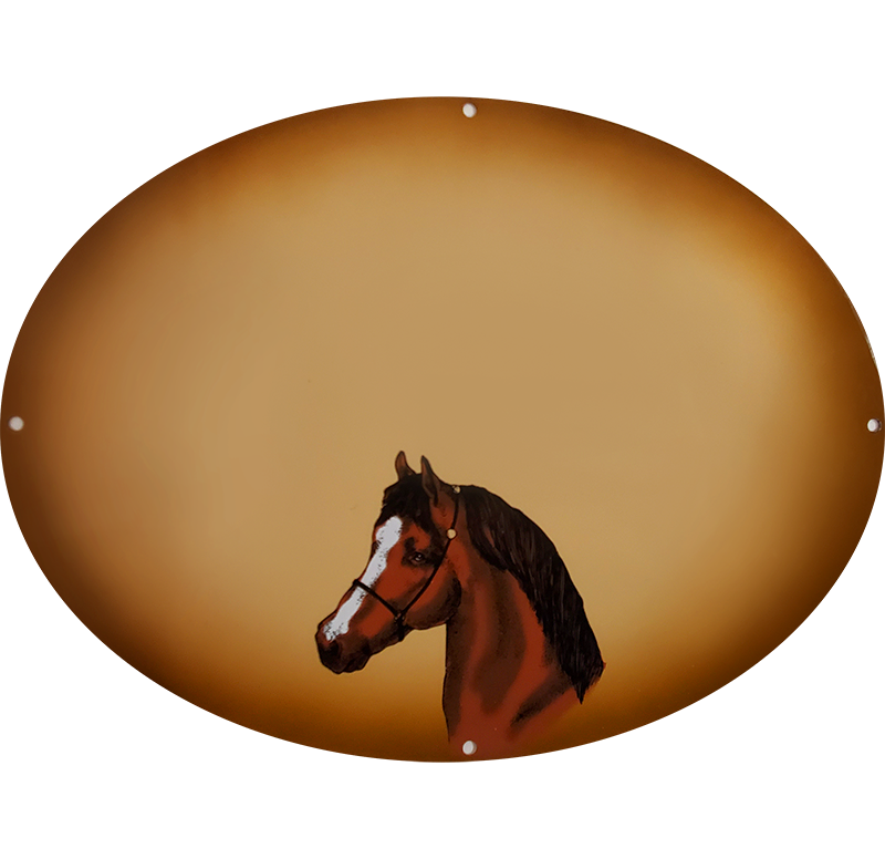 Arabian horse on tan gift plaque