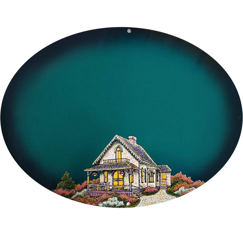 Cottage On Teal