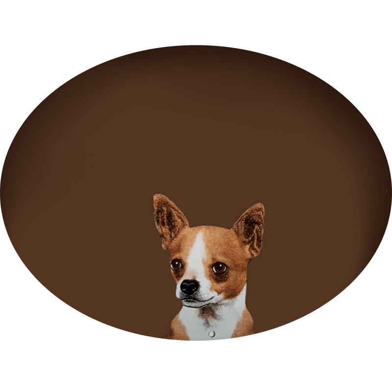 Chihuahua Plaque On Brown