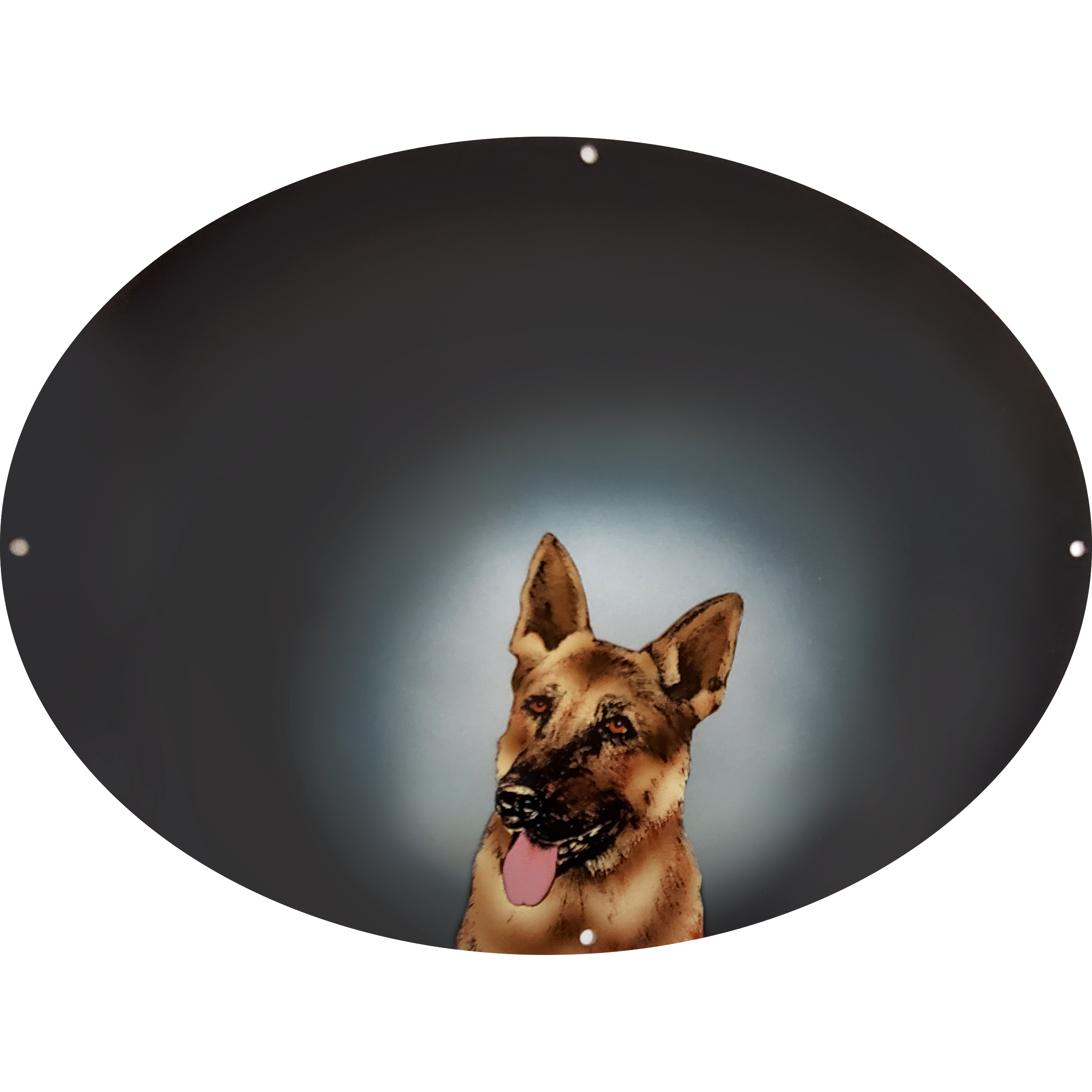 German Shepherd On Charcoal Plaque